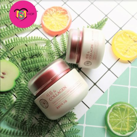 Kem dưỡng lựu The Face Shop Pomegranate And Collagen Volume Lifting Cream