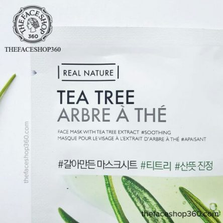 Mặt nạ dưỡng da tinh dầu tràm Real Nature Tea Tree The Face Shop